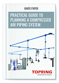 white paper compressed air piping system project